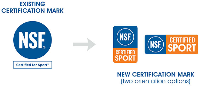 New NSF Certified for Sport Certification Mark