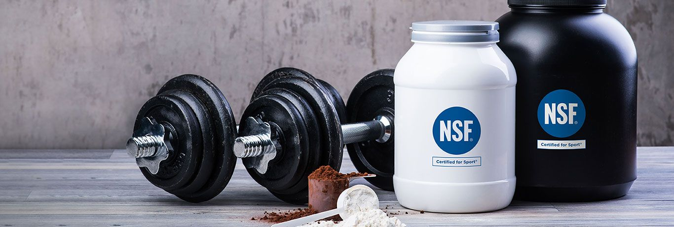 NSF Certified for Sport® mark on a dietary supplement container